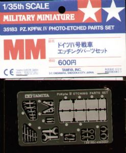 TA35183 PzKpfw IV Photo Etch Parts